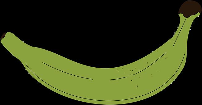 Illustration, Icon, Banana, Banana Male, Green, Food