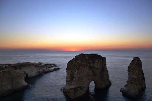 Beirut, Lebanon, Cord, Tourism, In The Evening