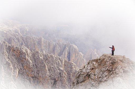 Alps, Dolomites, Mountain, People