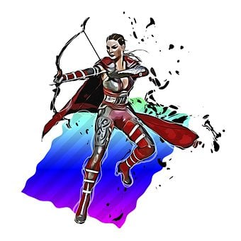 Female, Warrior, Fantasy, Woman, Fighter, Archer, Bow