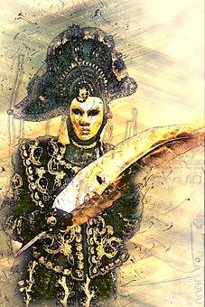Carnival, Mask, Figure, Ritual, Venice, Italy