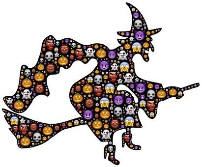 Witch, Halloween, Emoji, Scary, Frightful, Spooky
