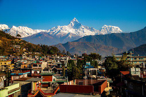 Fishtail Mountain, Pokhara City, Mountain Of Nepal