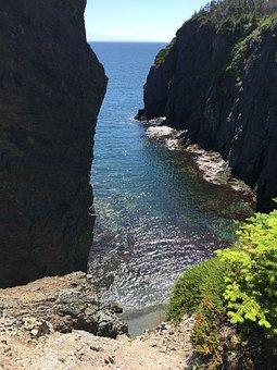 Skerwink, Blue, Seashore, Coast, Newfoundland, Canada