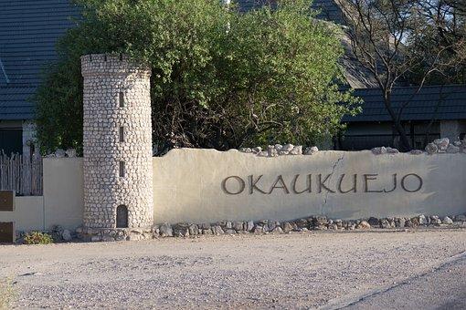 Okaukuejo Camp, Entrance, Etosha Park