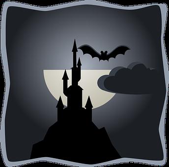 Bat, Castle, Spooky, Halloween, Dracula, Horror, Scary