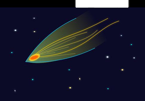 Asteroid, Comet, Night, Stars, Sky