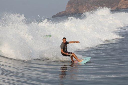 Surf, Sport, El Salvador, Board, Wave, Gray Sports