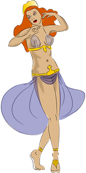 Woman, Dancing, Belly Dance, Hootchy-kootchy, Belly