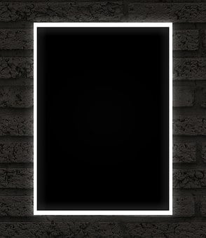 Frame, Black, Neon, Dark, Uv
