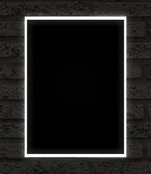 Frame, Black, Neon, Dark, Uv, White Light, Design