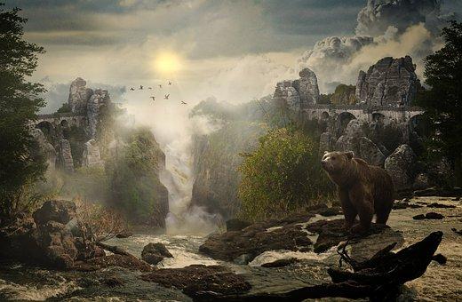 Fantasy, Bastei, Composing, Germany, Saxon, Mystical