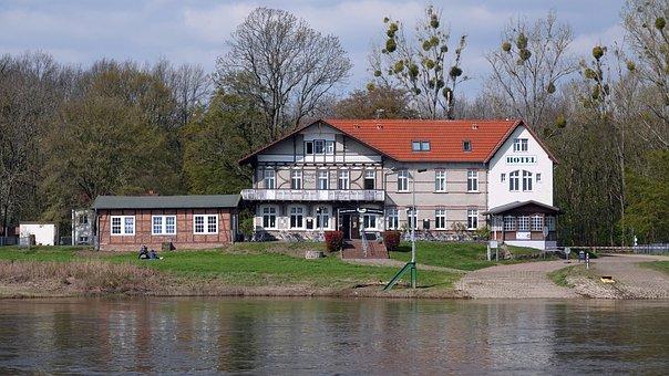 Hotel, Accommodation, Elbe, Coswig