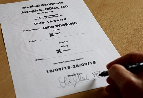 Krankmeldung, Disease, Sick Leave, Certificate, Doctor