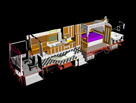 Bus, 3d Modelling, Tour, Travel, Render, Motor Home