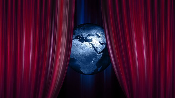 Globe, Earth, World, Curtain, Theater, Cinema