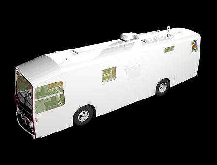 Bus, 3d Modeling, Motor Home, Travel, Render, Tourist