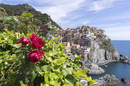 Italy, Landscape, Village, Side, Sea, Five, Land, Water