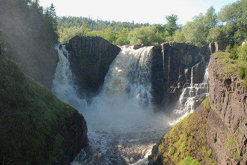 Waterfall, Rushing, Gushing, Water, Rocks, Thundering