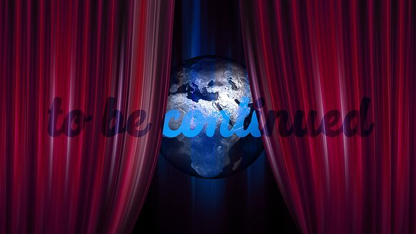 Globe, Earth, World, To Be Continued, Curtain, Theater