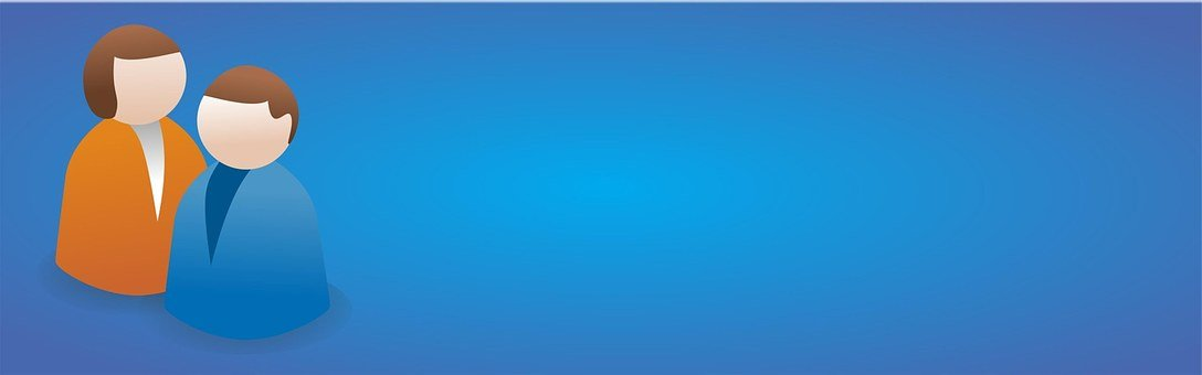 Users, Blue, Modern, Communicate, Banner, Web, Business