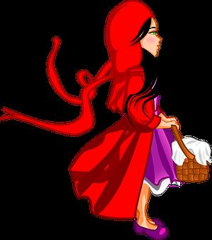 Little Red Riding Hood, Fairytale, Cap, Basket, Kid
