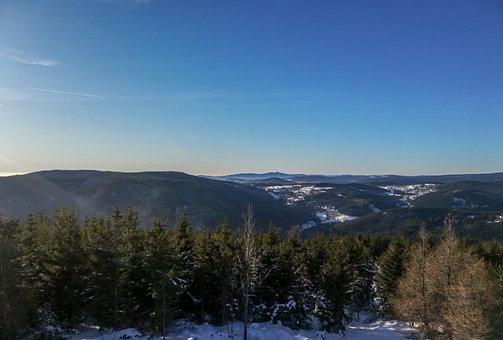 Sky, Bluesky, Mountains, Krkonose, Landscape, Nature