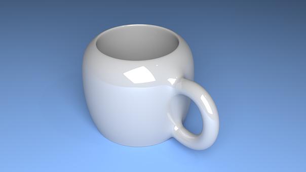 Cup, Glass, Cueramic, Coffe, Blue Cup
