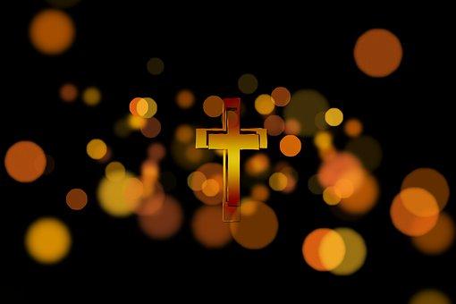 Cross, Faith, Bokeh, Light, Jesus