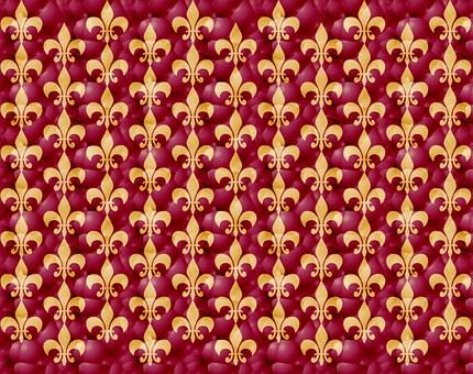 Fleur-de-lis, Purple, Gold, Pink, Heraldry, French