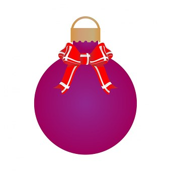Bauble, Call, Christmas, Purple, Holiday, Decoration