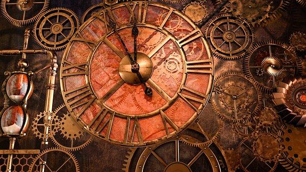 Steampunk, Metal, Antique, Clock, Machine, Old, Rust