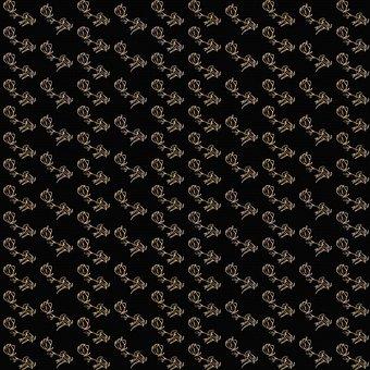 Roses And Black Digital Paper, Background, Rose Pattern