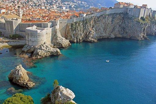 City, Dubrovnik, Sea, Adriatic Sea, Croatia, Travel