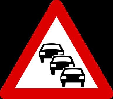Traffic Queue, Traffic, Road, Street, Roadsigns, Queue
