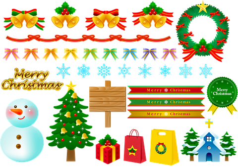 Christmas, Snowman, Wreath, Bunting, Christmas Bunting