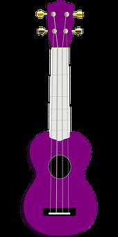 Ukulele, Guitar, Acoustic Guitar, Lilac, Violet