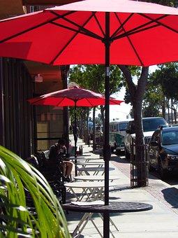 Carlsbad, Sandiego, Umbrella, Cafe, Coffeeshop