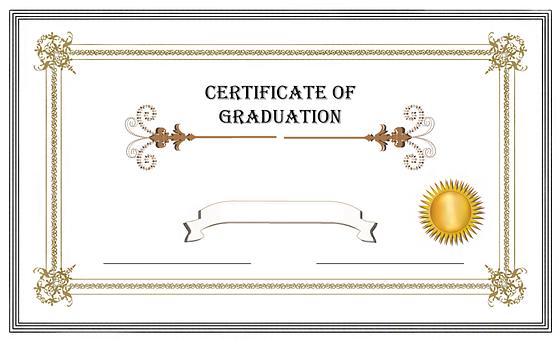 Graduation, Certificate, Diploma, Achievement, Success