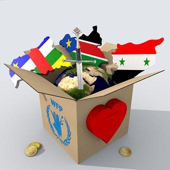 Box, Cardboard, World, Earth, Map, Sword, Heart, Coin