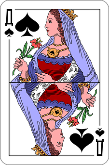 Spades, Queen, Deck, Playing Cards, Game, Entertainment