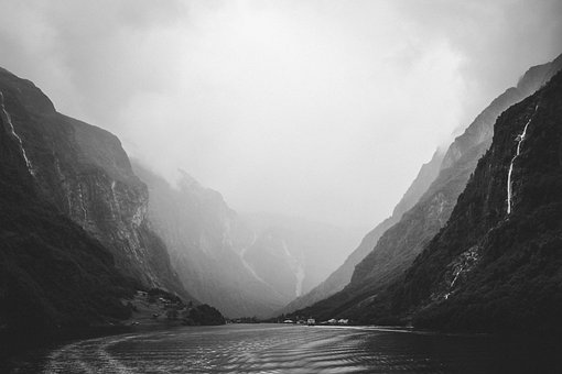 Flanell, Norway, River, Mountain, Water, Nature