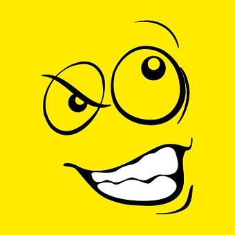 Smiley, Emoticon, Funny, Deceitful