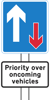 Road, Information, Arrows, Vehicles, Priority, Over