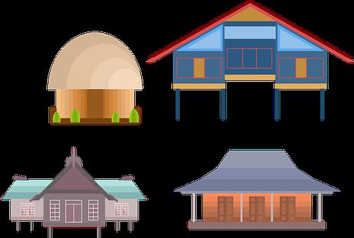 Home, Indonesia, Traditional Home, Papua, Aceh, Jawa