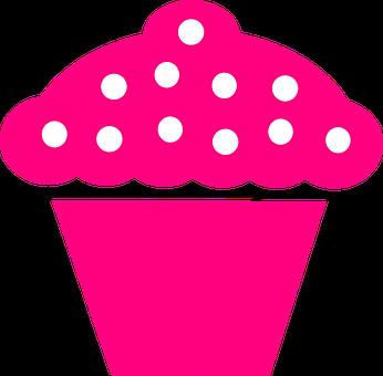 Cupcake, Pink, Berries, Logo, Muffin, Icing, Pictogram
