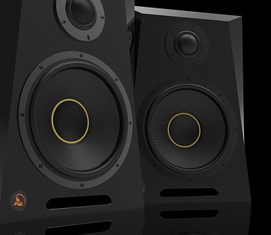 Monitor, Speakers, Speaker, Music