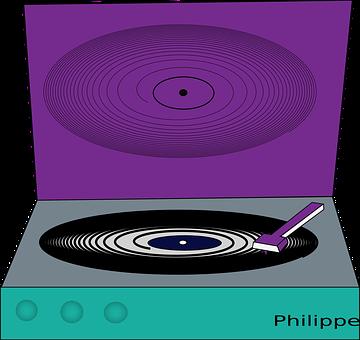 Turntable, Music, Player, Disc, Vinyl, Philippe
