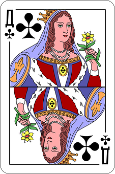 Clubs, Queen, Deck, Playing Cards, Game, Entertainment