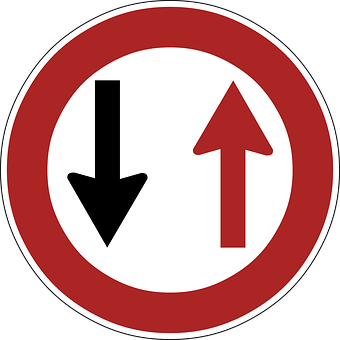 Priority, Oncoming, Vehicles, Sign, Road Sign, Signage